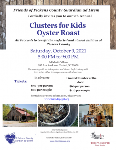Clusters for Kids Oyster Roast @ Ed Martin's Barn | Central | South Carolina | United States